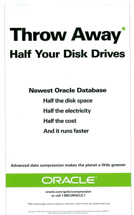 Oracle Compression Advertisement