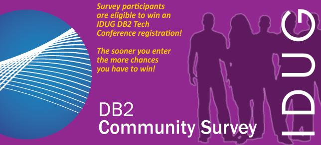 IDUG/DB2 Community Survey